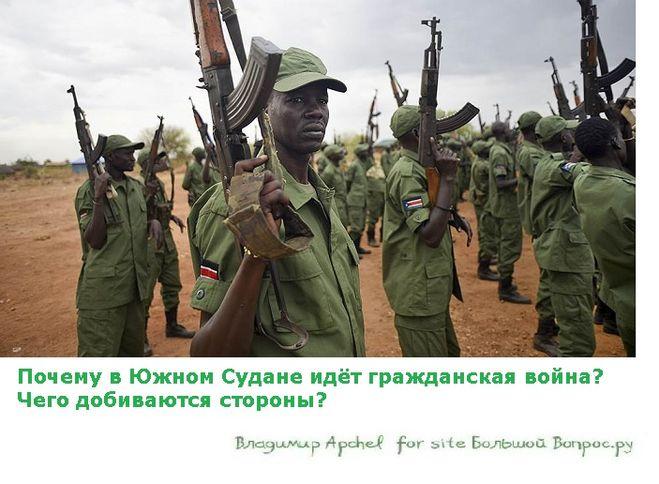 война в судане,  Почему в Южном Судане идёт гражданская война?  Чего добиваются стороны?