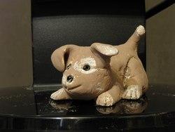 сделать собаку, щенка из соленого теста своими руками