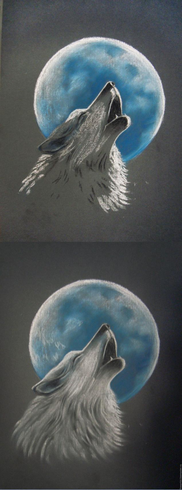 рисунки простым карандашом волки схема