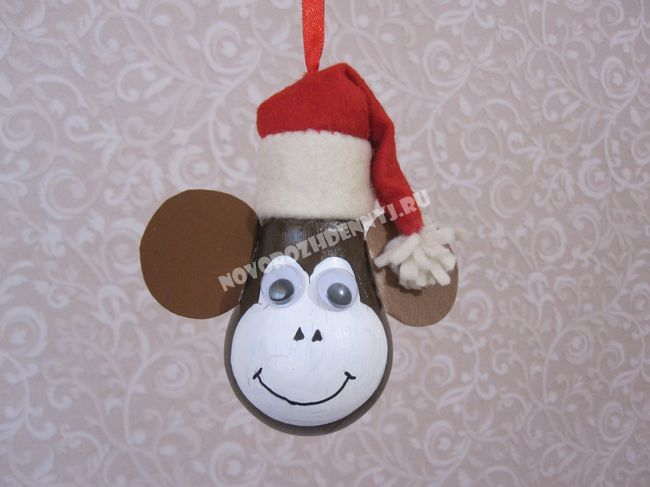 Как сделать новогоднюю игрушку своими руками обезьяну
