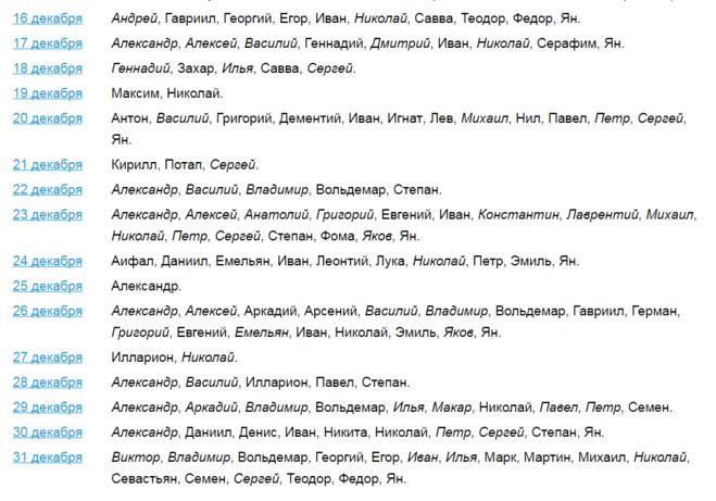 Имена по святцам для мальчиков: выбор православных мужских имён в зависимости от даты рождения.