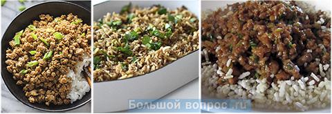 блюда из фарша и риса
