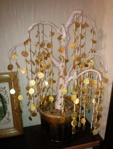 Денежное дерево из монет своими руками из