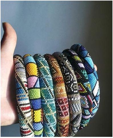вышивка бисером по шнуру