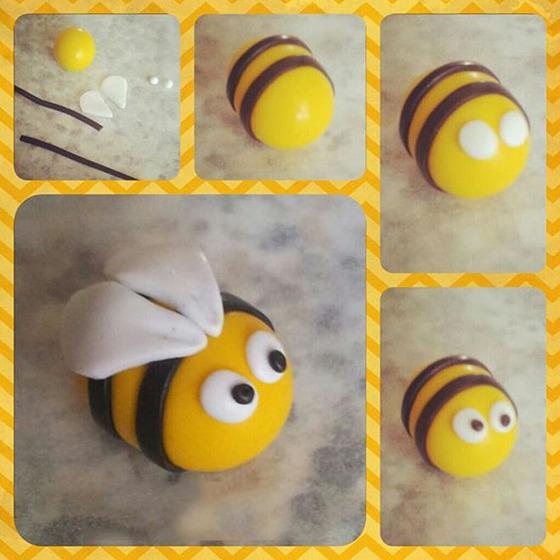 Пчелка из мастики своими руками