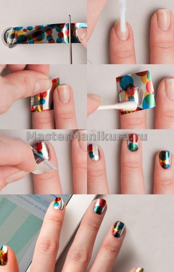 Мастер класс по дизайну ногтей фольгой