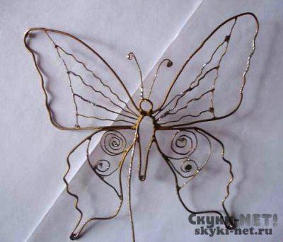Бабочка из проволоки своими руками мастер класс