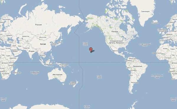 Где находятся вулканы на карте мира