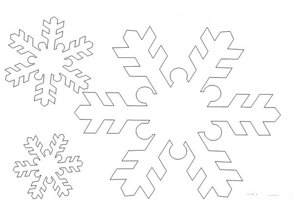 Короны из снежинок из бумаги своими руками