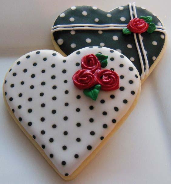 печенье-валентинка