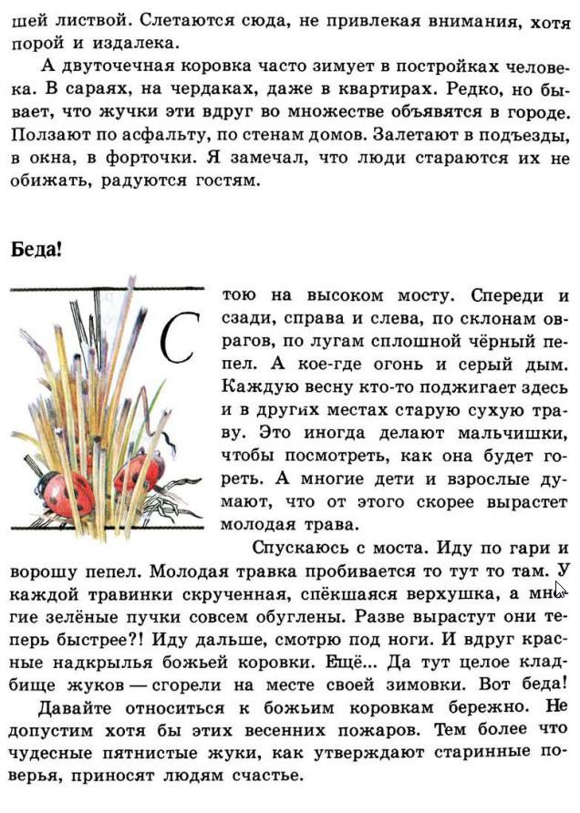 Зелёные страницы. 3 класс Божья коровка читать онлайн