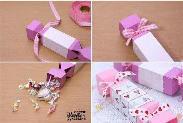 Упаковка или коробка в виде конфеты. Как сделать, мастер-класс?