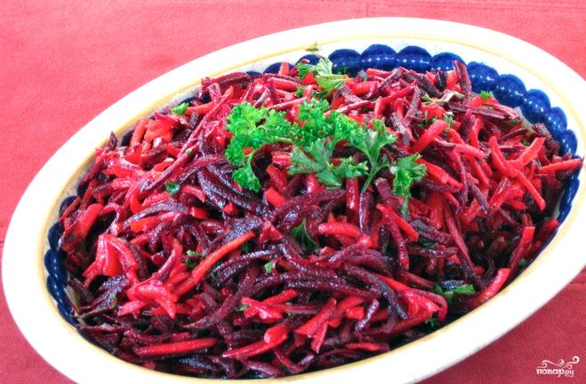 Салат из свеклы свежей