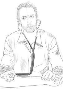 нарисовать врача 3