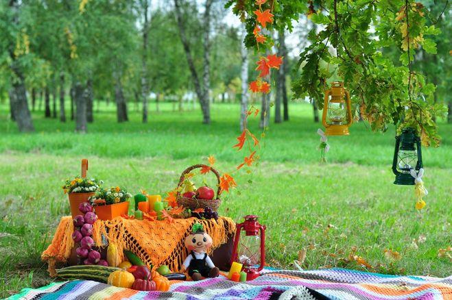 Фотозона своими руками осень
