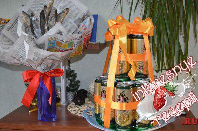 Подарок из пива и фисташек