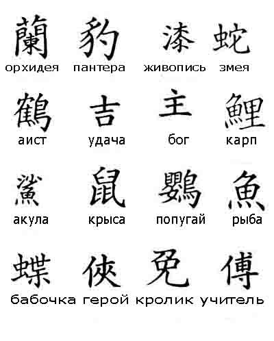 японские буквы знаком года