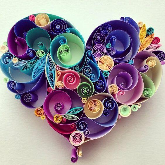 поделка сердце своими руками на день Святого Валентина квиллин