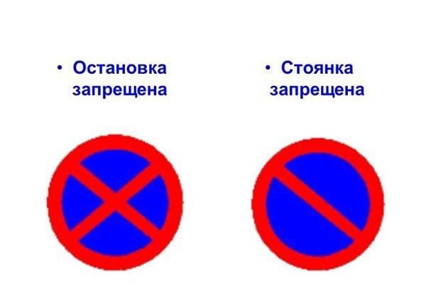 знак остановка запрещена со знаком времени