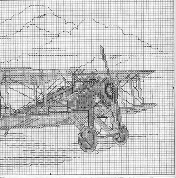 Вышивка крестом самолеты ретро 14