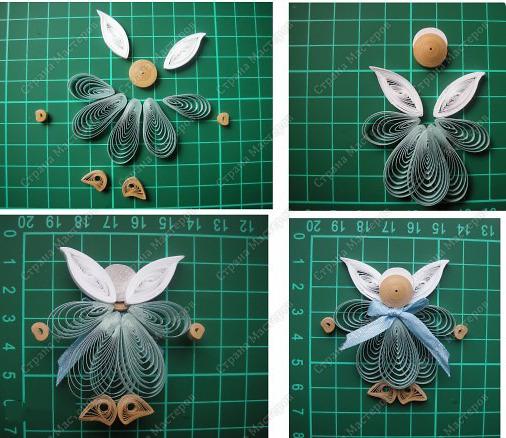 Поделки из квиллинга ангел