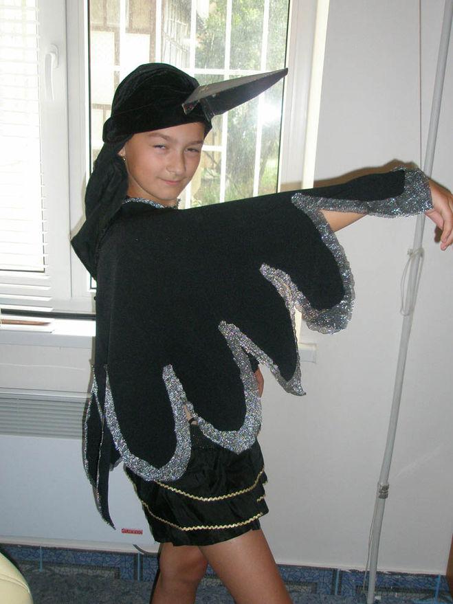 Сделать костюм сороки для девочки своими руками7