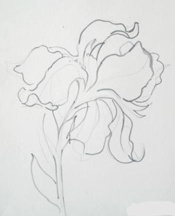 краски осени гуашью поэтапно рисунок