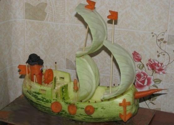 Поделки из кабачка на тему осень для детского сада