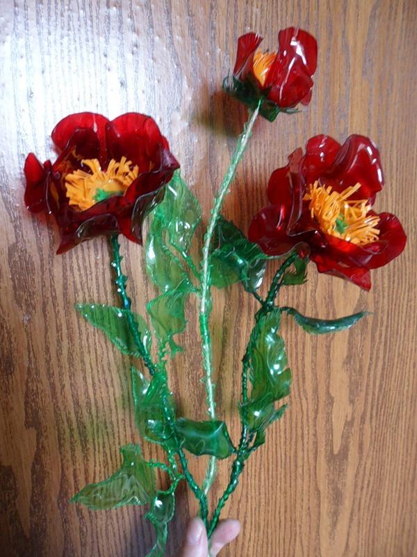 Цветы из пластиковых бутылок своими руками мастер-класс