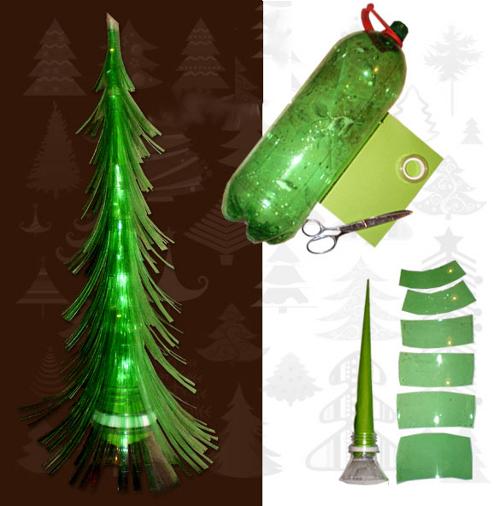 Как сделать елку из пластиковых бутылок своими руками?