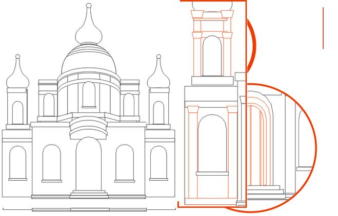 Как нарисовать храм поэтапно ребенку 10 лет карандашом