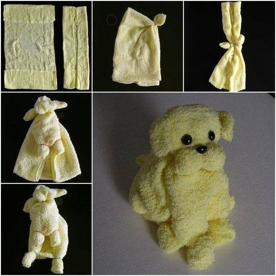 собака из полотенца своими руками