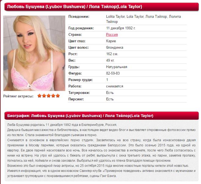 Какие есть белорусские известные порноактрисы