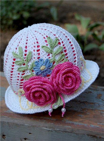 Шляпа для девочки крючком схема фото 379