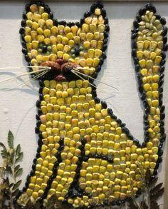 кот из зерен