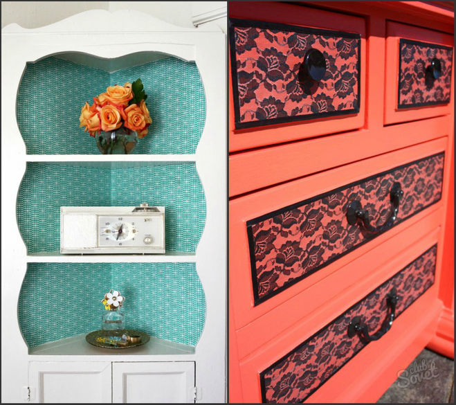 Как украсить старый шкаф своими руками в домашних условиях 396