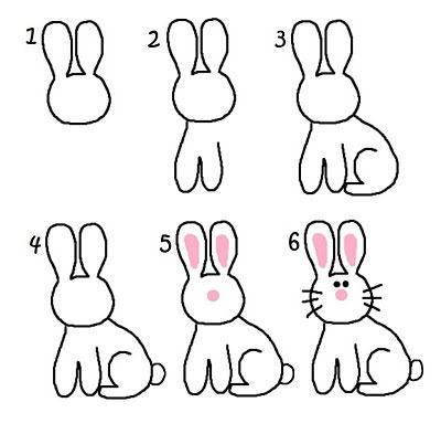 Как нарисовать зайчика ребенку