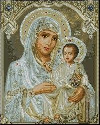 икона Божьей Матери вышивка