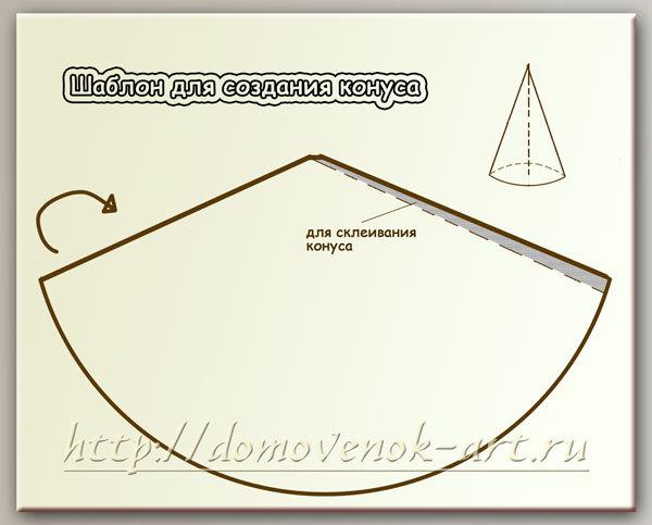 Конус из бумаги своими руками схема