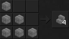 Как сделать ступеньки в майнкрафт из камня