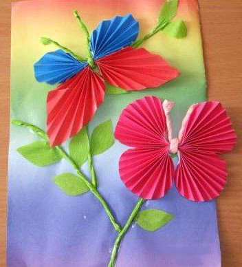 открытка с бабочкой своими руками