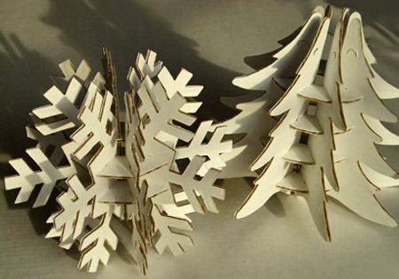 Большая снежинка из картона своими руками