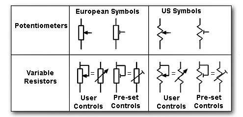 Подстроечный резистор на схеме