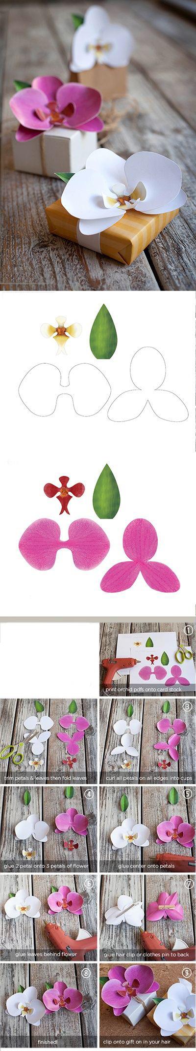 орхидея своими руками из бумаги