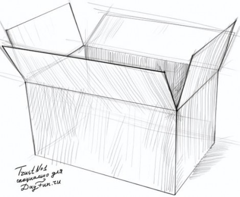 Как нарисовать коробку