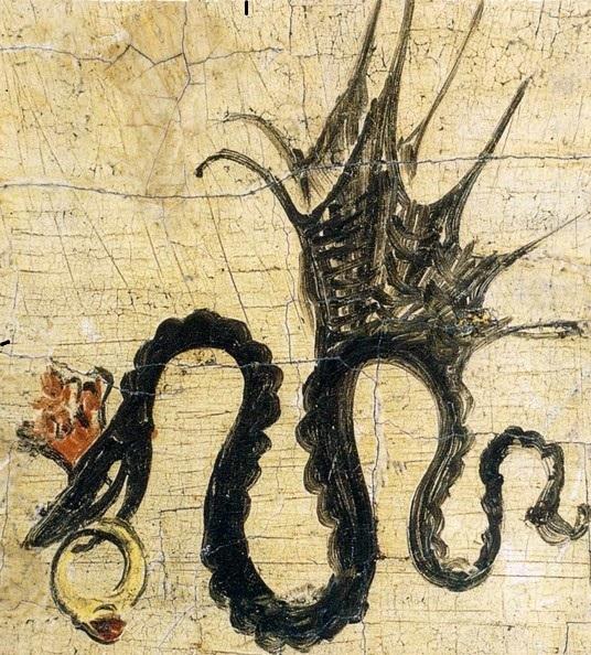 художник ренессанса подписывал картины знаком крылатая змея