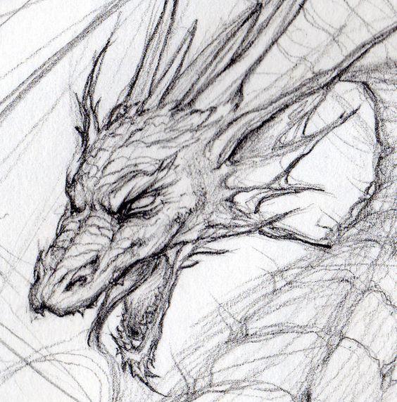 рисунок голова дракона