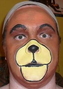 как быстро нарисовать морду собаки на лице как быстро сделать костю собаки взрослому