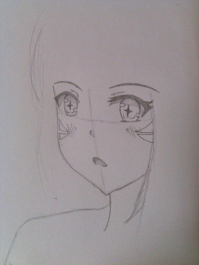 девушка-кошка аниме рисунок поэтапно