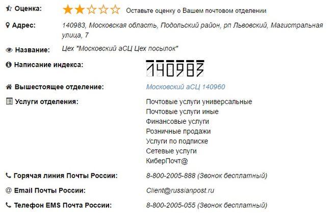 140983 Московский Асц Цех Посылок На Карте